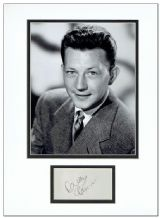 Donald O'Connor Autograph Display